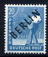"""Изображение Западный Берлин 1948 г. Mi# 8 • 20 pf. • надпечатка(черн.) """"Berlin"""" • MNH OG XF ( кат.- €7,5 )"""