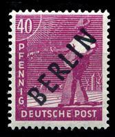 """Изображение Западный Берлин 1948 г. Mi# 12 • 40 pf. • надпечатка(черн.) """"Berlin"""" • MNH OG XF ( кат.- €8 )"""