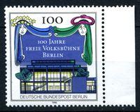 Image de Западный Берлин 1990 г. Mi# 866 • 100-летие Народного театра в Берлине • MNH OG XF ( кат.- €2,5 )
