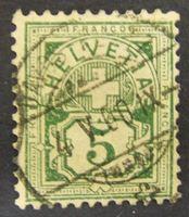 Image de Швейцария 1906 г. Mi# 84 • 5 с. • Крест на щите • Used VF-XF ( кат.- €1 )