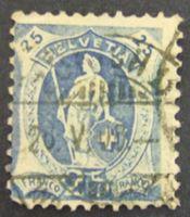 """Image de Швейцария 1907 г. Mi# 89 • 25 с. • Стоящая """"Швейцария"""" • Used VF ( кат.- €10 )"""