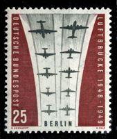 """Image de Западный Берлин 1959 г. Mi# 188 • 25 pf. • 10-летие """"Воздушного моста"""" • MNH OG XF ( кат.- €1 )"""