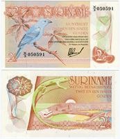 Изображение Суринам 1978 г. P# 118b • 2,5 гульдена • регулярный выпуск • UNC-UNC пресс