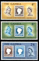 Image de Гамбия 1969 г. Gb# 256-8 • 100-летие выпуска первой марки Гамбии • MNH OG VF • полн. серия