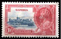 Image de Гамбия 1935 г. Gb# 143 • 25 лет правления Георга V • 1 1/2d. • MLH OG XF