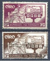 Изображение Ирландия 1937 г. Gb# 105-6 • День конституции • Used VF • полн. серия ( кат.- £5 )