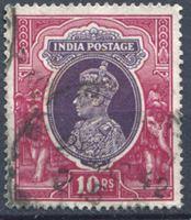 Bild von Индия 1937-40 гг. Gb# 262 • 10 R. • Георг VI основной выпуск • Used VF