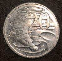 Image de Австралия 2004 г. KM# 403 • 20 центов • Елизавета II • Утконос • регулярный выпуск • AU