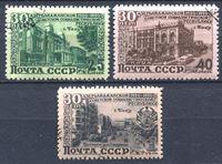 Bild von СССР 1950 г. Сол# 1527-9 • 25 лет Азербайджанской ССР. • Used(ФГ) XF • полн. серия