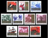 Bild von СССР 1965 г. Сол# 3197-3206 • 20-летие Победы • MNH OG XF • полн. серия