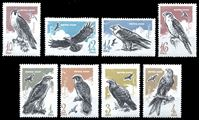 Bild von СССР 1965 г. Сол# 3283-90 • Хищные птицы • MNH OG XF • полн. серия