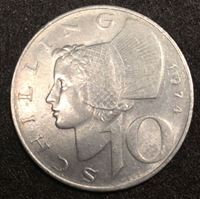 Bild von Австрия 1974 г. • KM# 2918 • 10 шиллингов • первый год чеканки типа • регулярный выпуск • MS BU ( кат.- $6,00 )