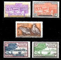 Image de Французские колонии • 193x - 5x гг. • Нов. Каледония и Гваделупа (5 чистых ** марок) • MNH OG XF