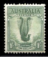 Bild von Австралия 1937-49 гг. Gb# 192 • 1sh. • Георг VI основной выпуск • птица лирохвост • MLH OG VF