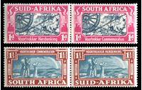 Изображение Южная Африка 1938 г. Gb# 80-1 • в честь первых голландских пионеров-переселенцев • MLH OG XF • полн. серия ( кат.- £20 )