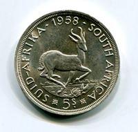 Bild von Южная Африка 1958 г. KM# 52 • 5 шиллингов • AU+