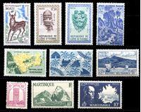 Image de Французские колонии • 193x - 6x гг. • 10 разных чистых ** марок (лот № 4) • MNH OG XF