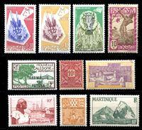 Image de Французские колонии • 193x - 6x гг. • 10 разных чистых ** марок (лот № 6) • MNH OG XF