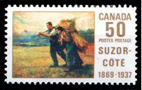 Image de Канада 1969 г. SC# 492 • 50c. • Марк Орель де Фуа Сюзор-Коте (художник) • MNH OG XF ( кат.- $3,75 )