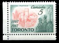 Image de Канада 1967 г. SC# 475 • 5c. • Торонто - 100 лет столица Онтарио • MNH OG XF