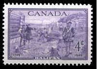 Image de Канада 1949 г. SC# 283 • 4c. • 200-летие основания Галифакса • MNH OG XF