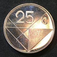 Picture of Аруба 1986 г. • KM# 3 • 25 центов • первый год чеканки типа и монет Арубы • регулярный выпуск • MS BU люкс! • FS