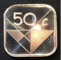 Изображение Аруба 1986 г. • KM# 4 • 50 центов • первый год чеканки типа и монет Арубы • регулярный выпуск • MS BU люкс! • FS