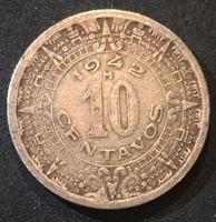 Изображение Мексика 1942 г. M • KM# 432 • 10 сентаво • регулярный выпуск • XF