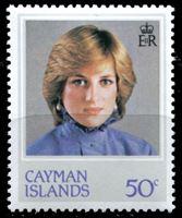 Изображение Каймановы о-ва 1982 г. Gb# 552w • 50 c. • 21-летие принцессы Дианы (переверн. в. з.!) • MNH OG XF ( кат.- £7,5 )