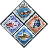 Bild von СССР 1959 г. Сол# 2371-4 • Спорт (ДОСААФ) • Used(ФГ) XF • полн. серия