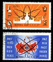 Picture of СССР 1962 г. Сол# 2724-5 • Мирный атом • Used(ФГ) XF • полн. серия