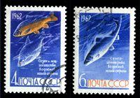Picture of СССР 1962 г. Сол# 2732-3 • Промысловые рыбы • Used(ФГ) XF • полн. серия