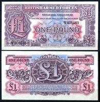 Изображение Великобритания 1948 г. P# M22 • 1 фунт • армейский чек • UNC-