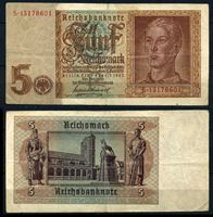 Bild von Германия 3-й рейх 1942 г. P# 186 • 5 рейхсмарок • регулярный выпуск • XF