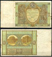 Image de Польша 1929 г. P# 71 • 50 злотых • регулярный выпуск • VF