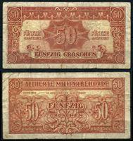 Изображение Австрия 1944 г. P# 102b • 50 грошей • армейский чек • F-