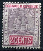 Bild von Британская Гвиана 1900-1903 гг. Gb# 234 • 2c. • Парусный фрегат • MLH OG XF ( кат.- £3,75 )