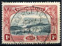 Bild von Британская Гвиана 1897 г. Gb# 216 • 1c. • 60-летний юбилей правления королевы Виктории • Used XF ( кат.- £2,75 )
