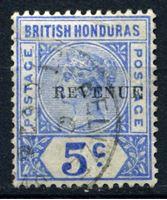 "Bild von Британский Гондурас 1899 г. Gb# 66 • 5c. • надпечатка ""revenue' • Used VF"