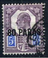 Bild von Британский Левант 1902-1905 гг. Gb# 9 • 80pa. на 5d. • Эдуард VII • стандарт • Used VF ( кат.- £2 )