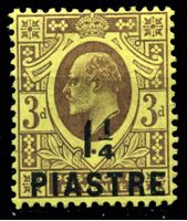 Bild von Британский Левант 1910 г. Gb# 22 • 1 1/4pi. на 3d. • Эдуард VII • стандарт • MH OG XF