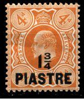 Bild von Британский Левант 1910 г. Gb# 23 • 1 3/4pi. на 4d. • Эдуард VII • стандарт • MH OG XF