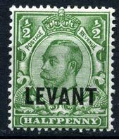 "Bild von Британский Левант 1911-1913 гг. Gb# L12 • 1/2d. • Георг V • надпечатка ""Levant"" • стандарт • MH OG XF"