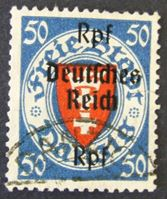 Image de Германия 3-й рейх 1939 г. Mi# 727 • 50 пф. • Надпечатка новой цены на марках Данцига • Used XF ( кат.- €8,5 )