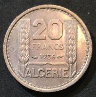 Picture of Алжир 1956 г. • KM# 91 • 20 франков • регулярный выпуск • MS BU люкс! ( кат.- $15,00 )