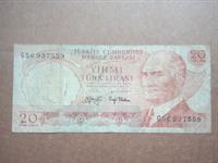 Изображение Турция 1970 г. • 20 лир • регулярный выпуск • VG