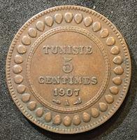 Picture of Тунис 1907 г. A • KM# 235 • 5 сaнтимов • регулярный выпуск • XF+