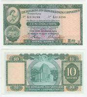 Bild von Гонконг 1983 г. P# 182 • 10 долларов • UNC-UNC пресс