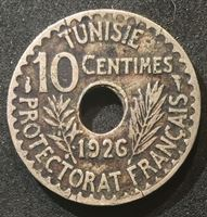 Picture of Тунис 1926 г. • KM# 254 • 10 сантимов • 10 сантимов • регулярный выпуск • XF- ( кат.- $50,00 )