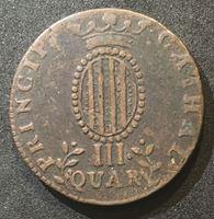 Image de Испания  • Каталония 1812 г. KM# 115 • 3 кварты • герб Каталонии • герб Испании • регулярный выпуск • XF ( кат.- $100,00 )